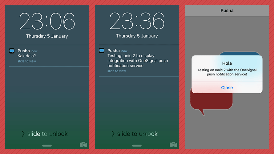 Implementing push notifications on iOS & Android with Ionic