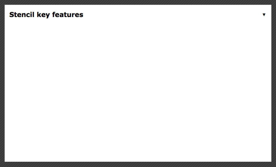 Building a dropdown with Stencil